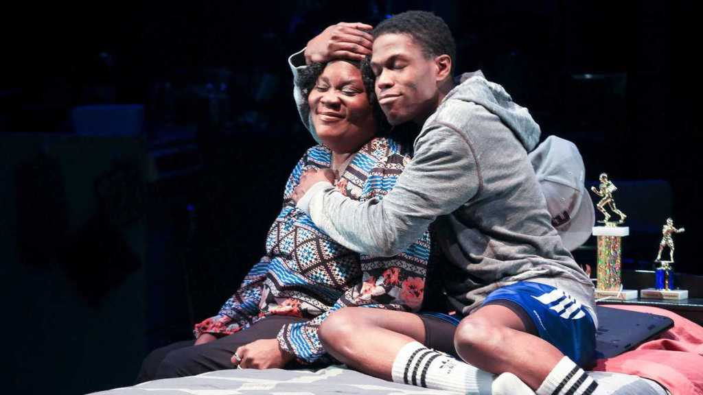 Catrina Ganey and Curtiss Cook Jr. in Philadelphia Theatre Company's production of 'brownsville Song.' (Photo courtesy of Paola Nogueras)