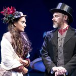 Anita Vasan as and Richard B. Watson as Phinneas Fogg. Photo by Lee A. Butz.