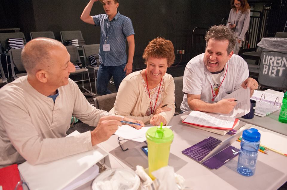 Paul Meshejian, Michelle Volansky, Eric Pfeffinger,  at PlayPenn 2015