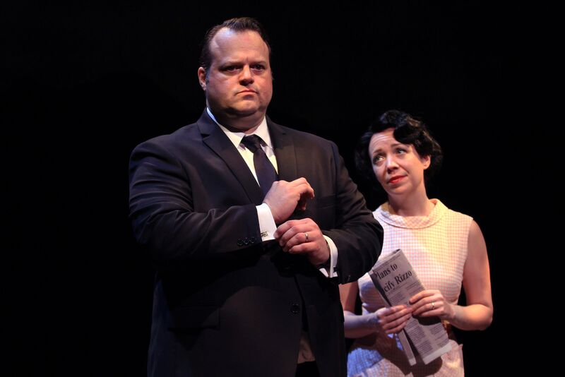 Scott Greer and Amanda Schoonover  in Bruce Graham's RIZZO from Theatre Exile.  Photo by Paola Nogueras.