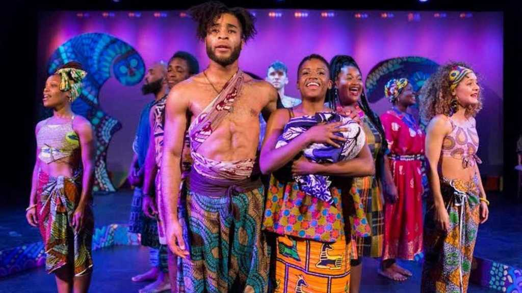 Kingsley Ibeneche and Sanchel Brown lead the cast of BLACK NATIVITY. (Photo courtesy of Matthew J. Photography)