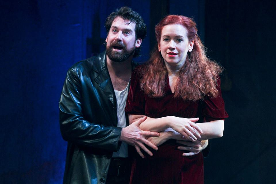 Kyle Fennie and Meg Trelease star in Villanova Theatre's MACBETH.