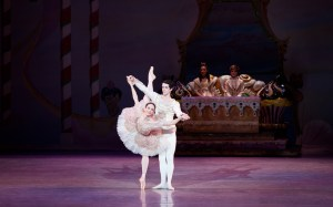 Principal Dancers Julie Diana and Ian Hussey in THE NUTCRACKER. Photo by Alexander Iziliaev