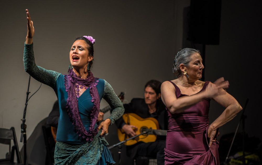 Cantor Barbara Martinez and La Meira at the first TABLAO PHILLY.  Photo by Mike Hurwitz