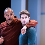 Keith Hamilton Cobb as Julius Caesar and Spencer Plachy as Mark Antony. Photo by Lee A. Butz