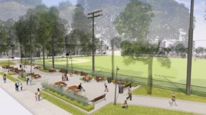 Proposed renovation of Columbus Square Park.