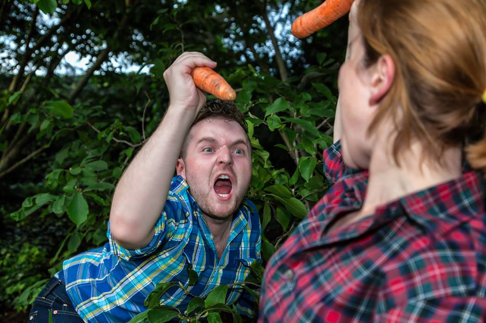 It's only in the second half of ANIMAL FARM TO TABLE that the carrots really start flying. Photo by Daniel Kontz.