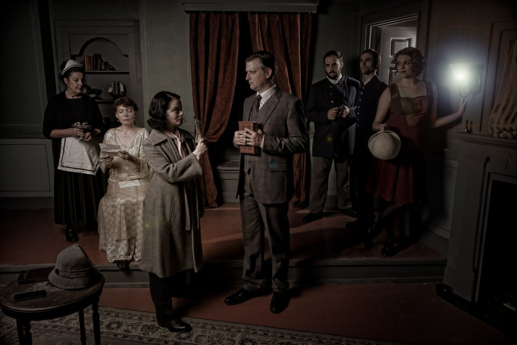 The cast of Hedgerow's ANGEL STREET (GASLIGHT). Photo by Kyle Cassidy.