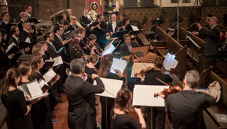 Choral Arts Philadelphia with Bach Collegium, conducted by artistic director Matthew Glandorf. Credit: Sharon Torello (October 2016 at St. Clement's Church)