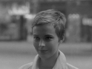 Jean Seberg in A bout de souffle (Breathless) (1960).
