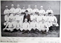 Connie Mack with the1906 Philadelphia Athletics. Print supplement of The North American, May 1906.