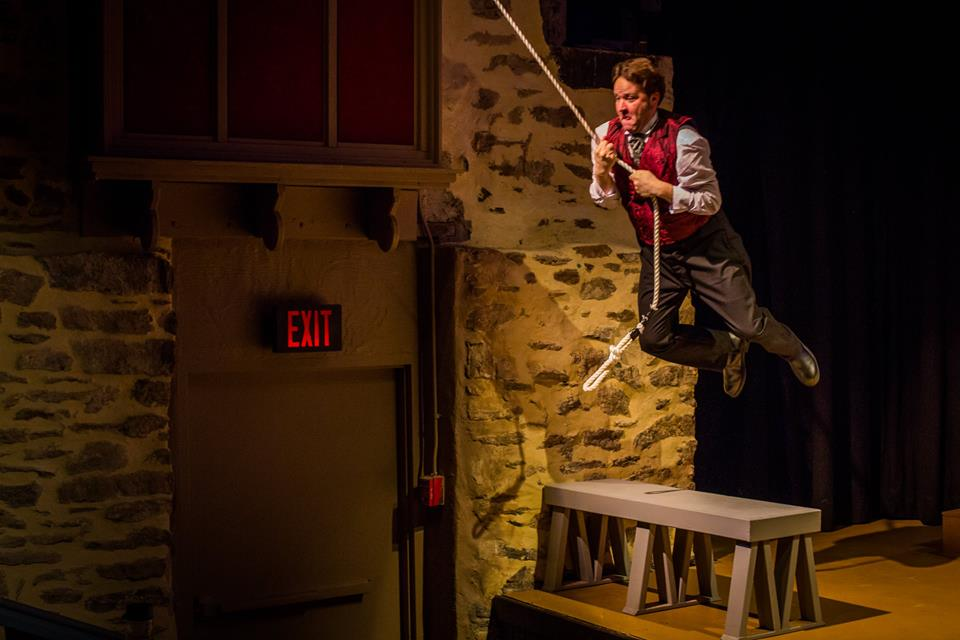 Matt Tallman in THE PRISONER OF ZENDA at Hedgerow Theatre. Photo by Ashley Labonde/Wide Eyed Studios.