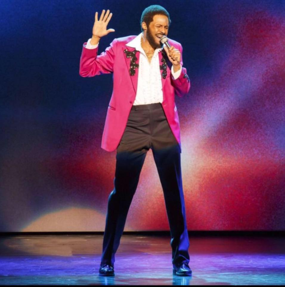 Jarran Muse as Marvin Gaye in MOTOWN: THE MUSICAL. Photo by Joan Marcus.
