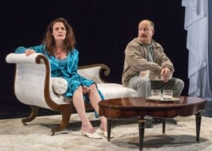 A Red Orchid Theatre's SIMPATICO at McCarter. Jennifer Engstrom and Guy Van Swearingen. Photo by Richard Termine.