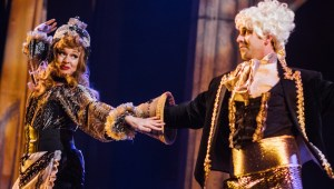 Julianna Babb as Babette and JP Dunphy as Lumiere. Credit_ Alex Medvick