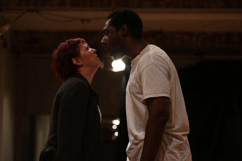 3. Amanda Schoonover and Thierry Saintine in Phaedra's Love. Photo by Ann Marley.