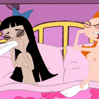 Candace and Satcey got cold - they spended too much time naked!
