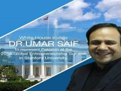 Dr.Umar Saif to Represent Pakistan at the 2016 Global Entrepreneurship Summit