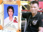 The brother of Mr Sawad Wangam (28) - the flag man whose head was ripped open by a high-velocity bullet at Khok Wua on April 10, 2010