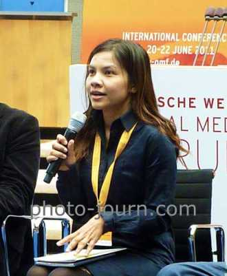NBTC commissioner Supinya Klangnarong refused to accept an iPhone from a Thailand telco