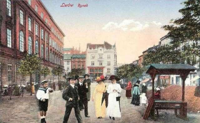 Торговий дім Ціппера на поштівці, до 1914 року