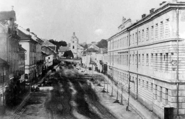 Одне з перших зображень вулиці Казимирівської. Фото др.третини XIX ст.
