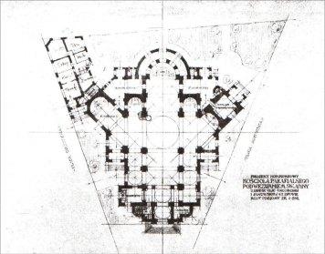 Костел Св. Анни. Конкурсний проект Л. Соколовського. План, 1911 р.