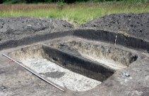 Залишки житлової споруди в одному з кутів якої знайдена піч-кам'янка.