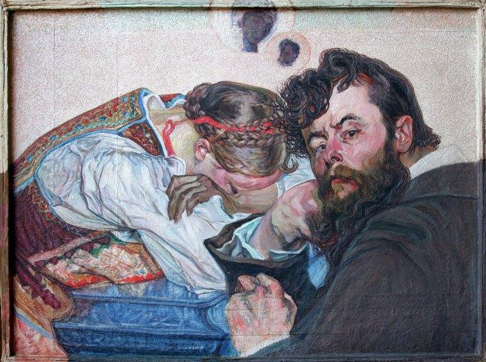 Новаківський Олекса. «Втрачені надії/ Визволення». 1903-1908 рр. дошка, олія.