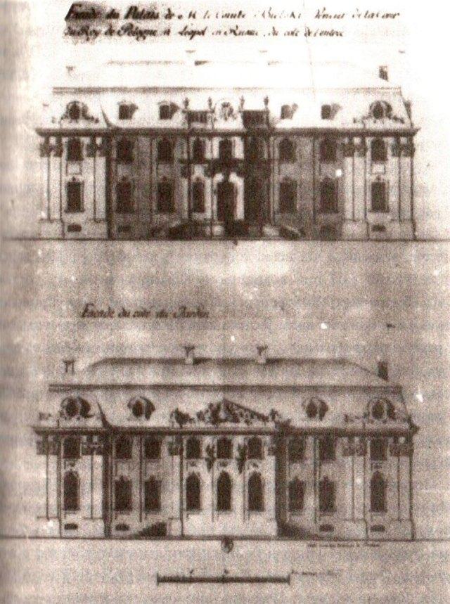 Фасад Палацу Більських. Архітектор Ян Шульц, 1885 р.
