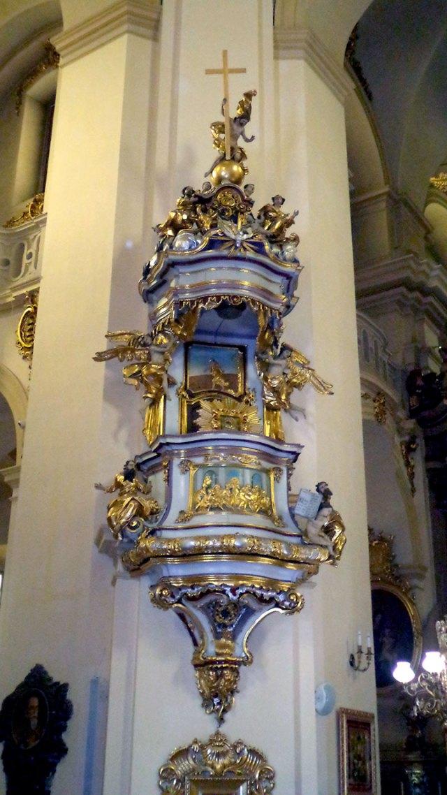 Амвон Собору святого Юра у Львові, з якого 14 жовтня 1836 р. виступив Шашкевич.