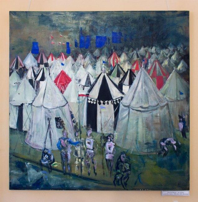 """Ґжеґож Вненк """"Без назви"""", полотно, акрил, 100х100, 2010, Польща"""