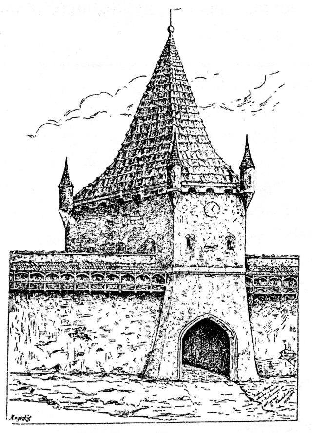 Зображення Галицької брами (середина XVIII століття)