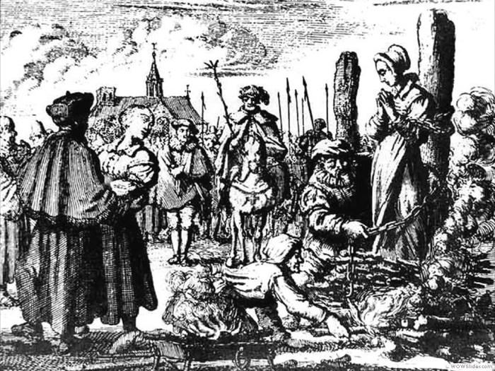 Ян Люйкен, Підготовка до кари в 1544, гравюра XVII ст.
