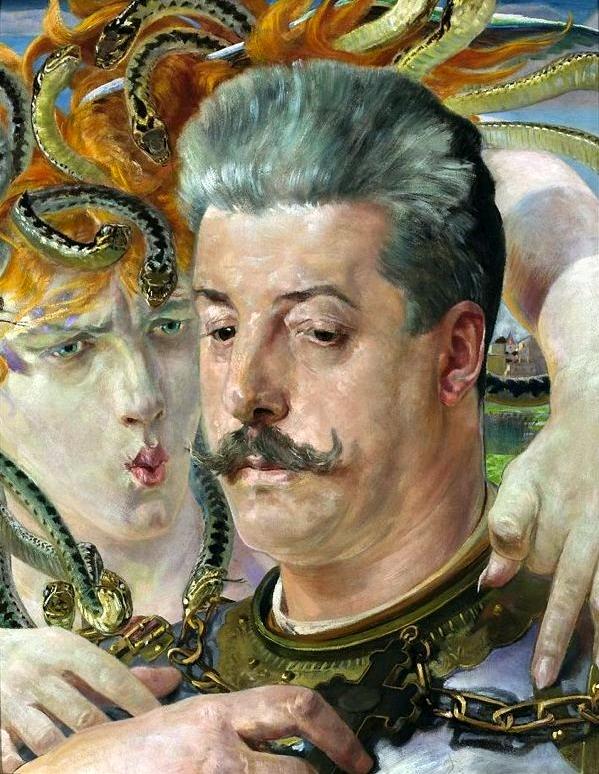 Портрет Т. Блотніцького з Медузою, робота Я. Малчевського.