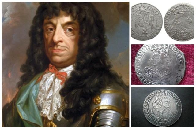 Король Ян Казимир (1648 - 1668рр.) і його грош, орт і талер.