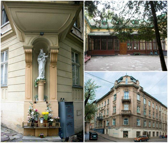 Костел, що стояв на вулиці Ольги Кобилянської