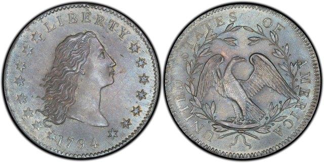 """Найдорожча монета світу: 1 долар 1794 р. (""""Flowing Hair Dollar"""")"""