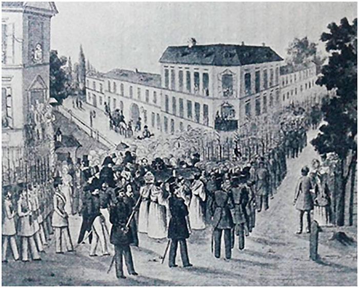 Похорон революціонера Едварда Морґенбессера 24 травня 1848 року
