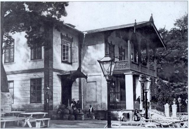 Ресторан (тепер Болгарське консульство) в парку ім. Івана Франка. Фото 1900 року