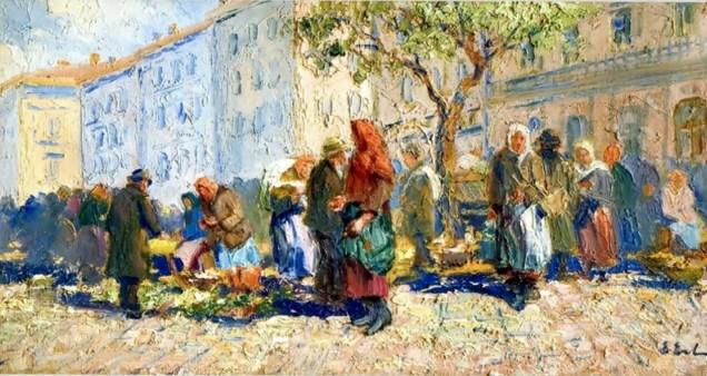 Ерно Ерб. Торг на площі Ринок у Львов