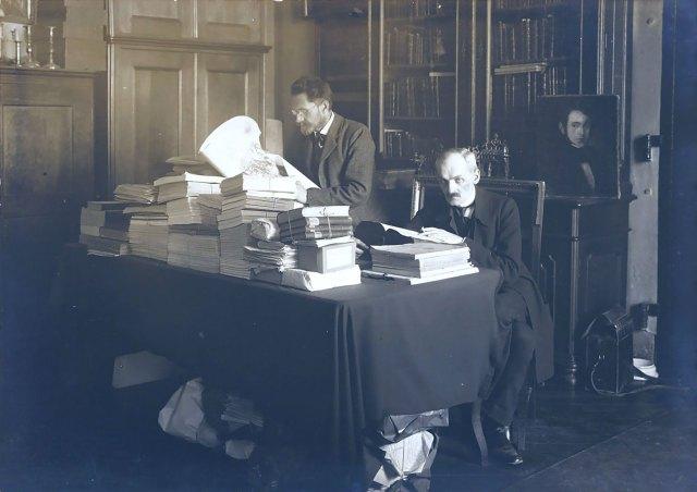 Францішек Яворський та Франц Ковалишин у львівському міському архіві, 1911 рік