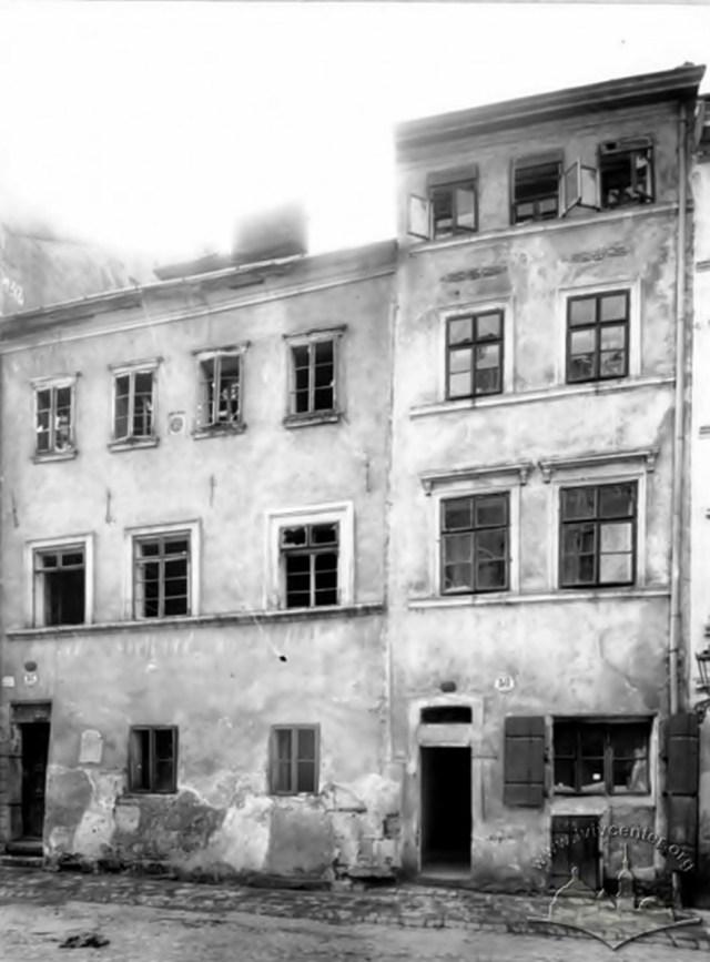 Кам'яниці на вул. Староєврейській, фото 1900 1908 рр. з lvivcenter.org.ua
