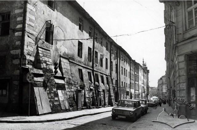 Перспектива вулиці Сербської, фото 1980-1985 рр.