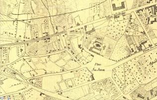 Площа св. Юра на плані Львова 1861 року