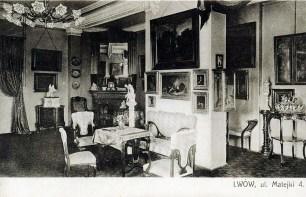 Інтер'єр вілли Леона Пінінського. Фото 1910-х рр.