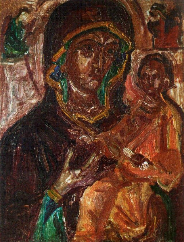 Ольга Плешкан, ікона «Богородиця з Дитям», 1930-ті рр.