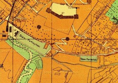 Пелчинський став. Фрагмент плану Львова близько 1895 р.