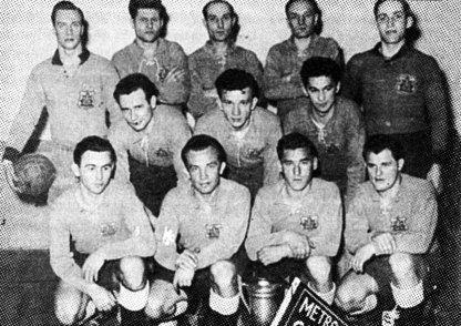 Канадійська команда «Тризуб», 1952 р. (із книги О. Скоценя «З футболом у світ»)