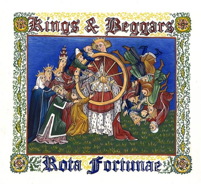 """Ілюстрація до альбому """"Rota Fortunae"""", 2015. Фото з http://www.kings-and-beggars.com.ua"""